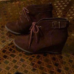 Brown  wedge heel shoes